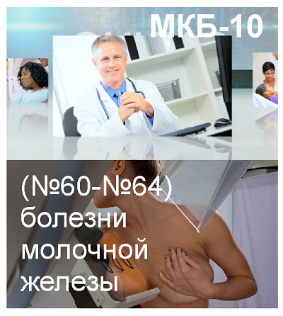 МКБ-10, (№60-№64) болезни молочной железы